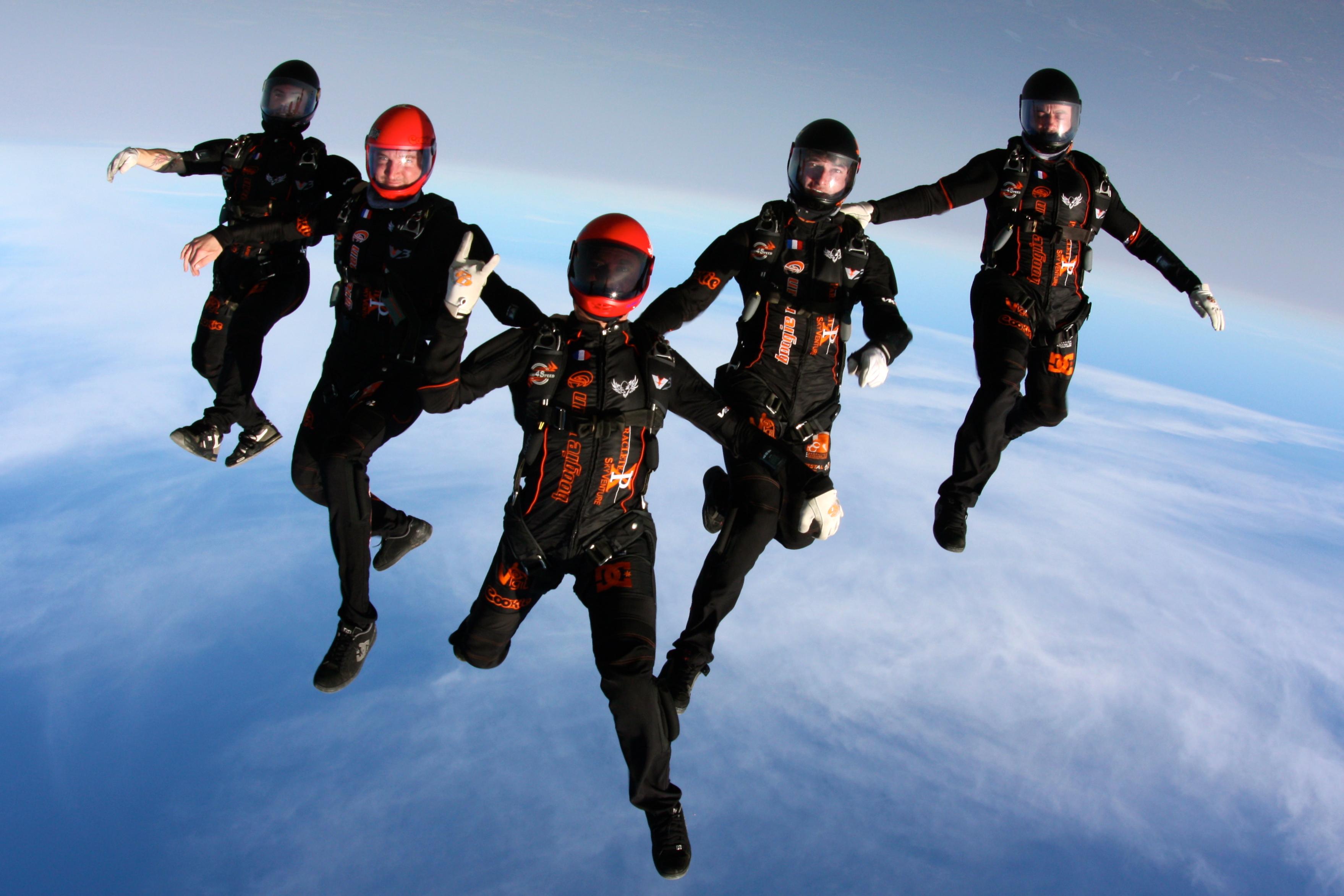 parachutisme vol relatif