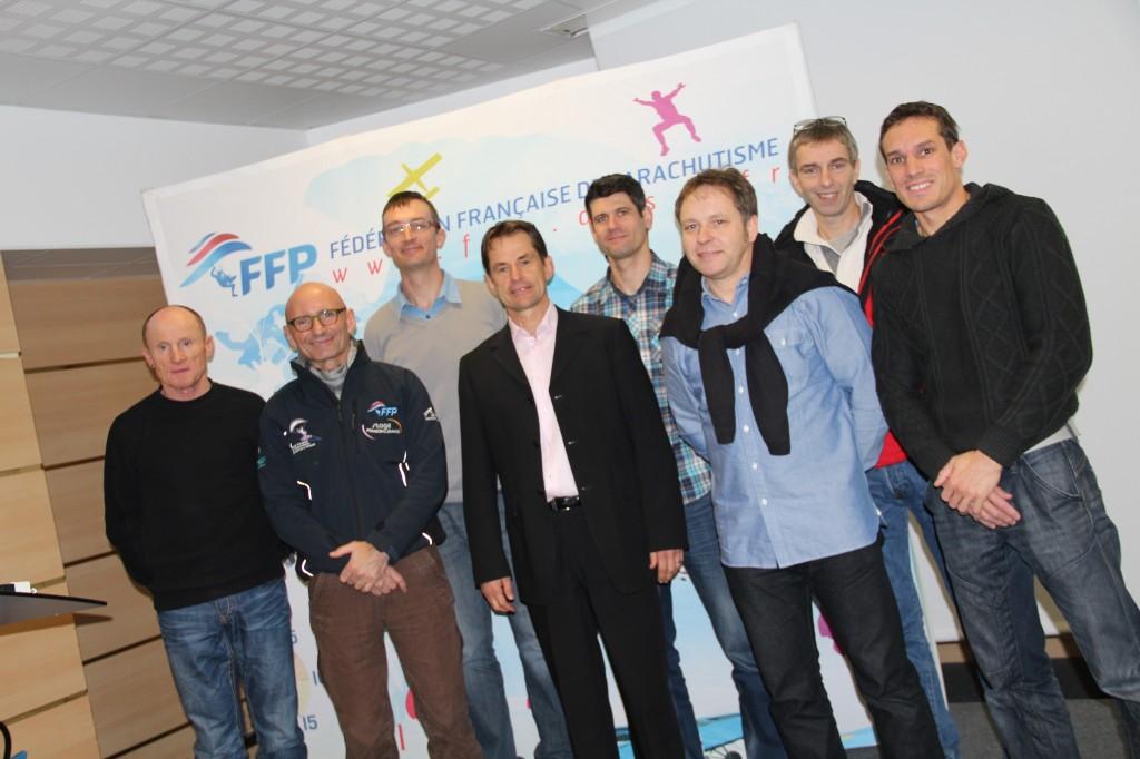 Les membres de la DTN de la FFP