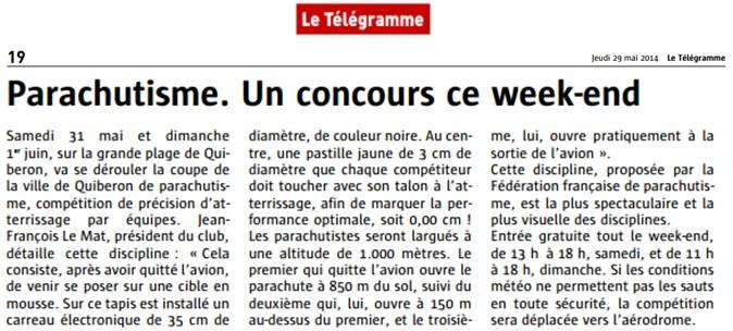 Le Télégramme - 29.05.2014