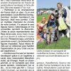 <b>Ouest France-28-08-14- Claire Duverger 4ème aux France parachutisme handisport</b>