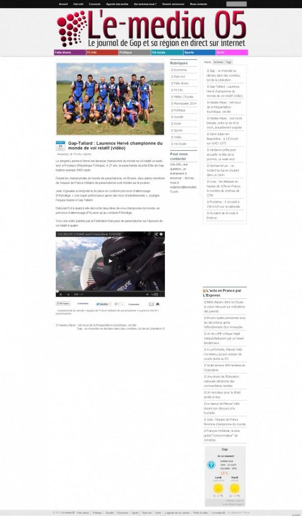 L-e-media 05-31-08-14-Gap-Tallard Laurence Hervé championne du monde de vol relatif