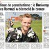 <b>La Voix du Nord-05-09-14 Mondiaux de parachutisme, le Dunkerquois Charles Rommel a décroché le bronz...</b>