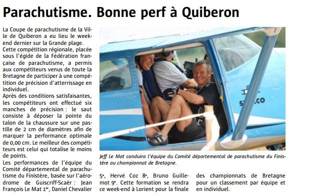 Le télégramme-06-09-2014-Bonne perf à Quiberon