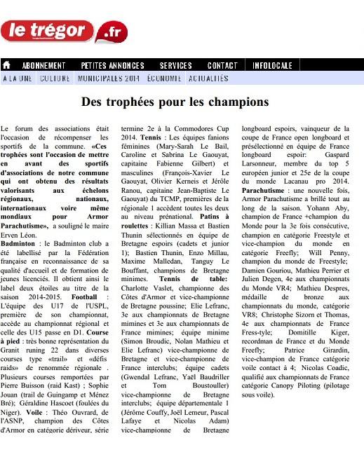 Le trégor-11-09-14-Des trophées pour les champions