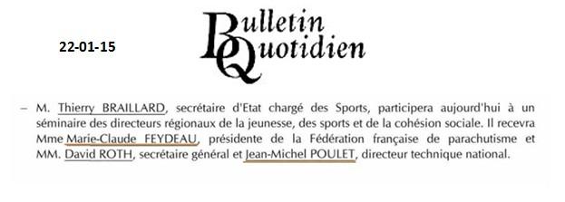 Bulletin quotidien-22-01-15