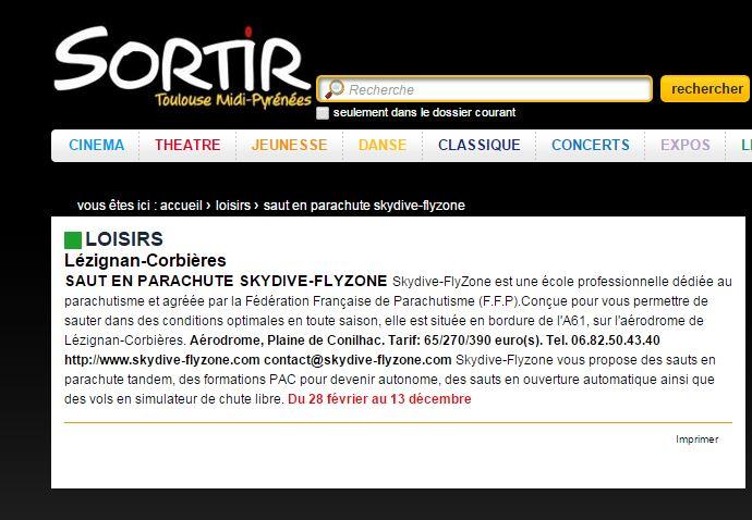 Sortir Toulouse Midi Pyrénées-27-01-15