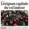 <b>La Dépêche-16-02-15-Lezignan, capitale du vol indoor</b>